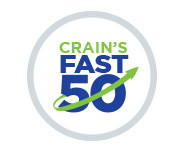 Crain's Fast 50. Crain's Award. 2018's fastest growing companies